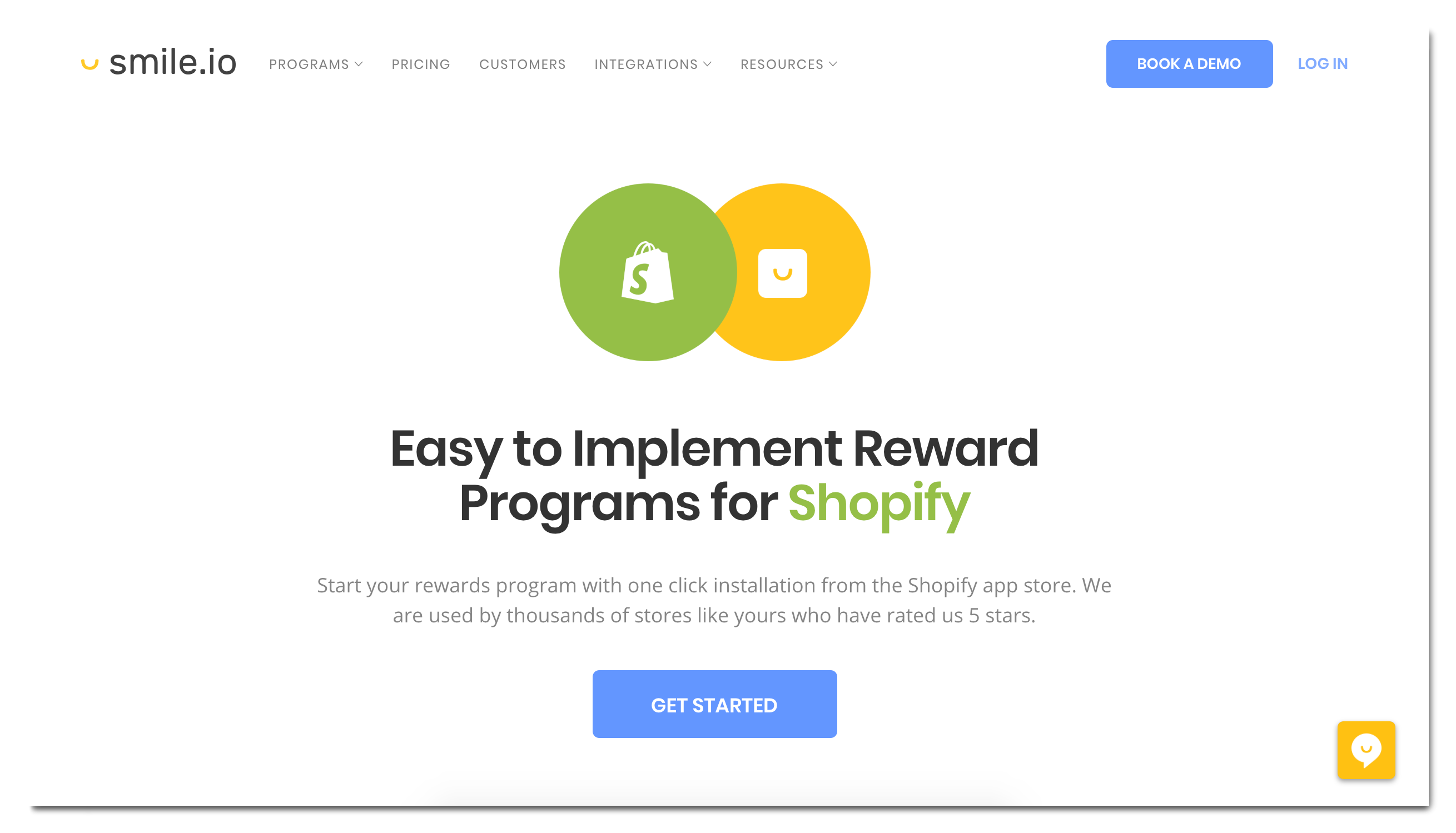 Smile.io Shopify アプリ