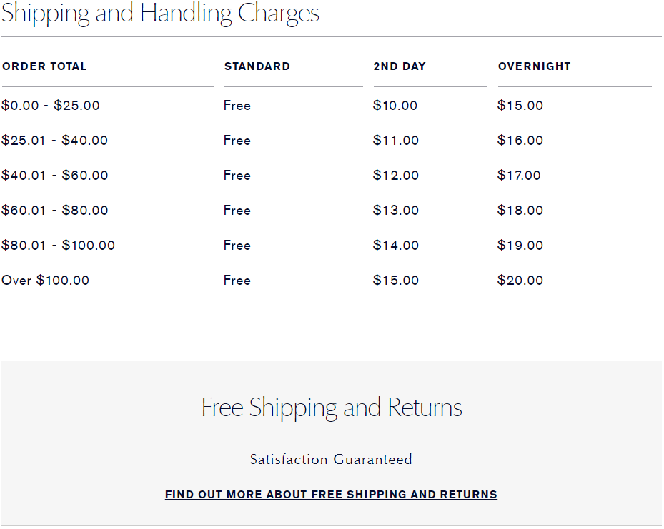 Free Shipping Page