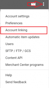 Connect Google Shopping Ads Account Linking