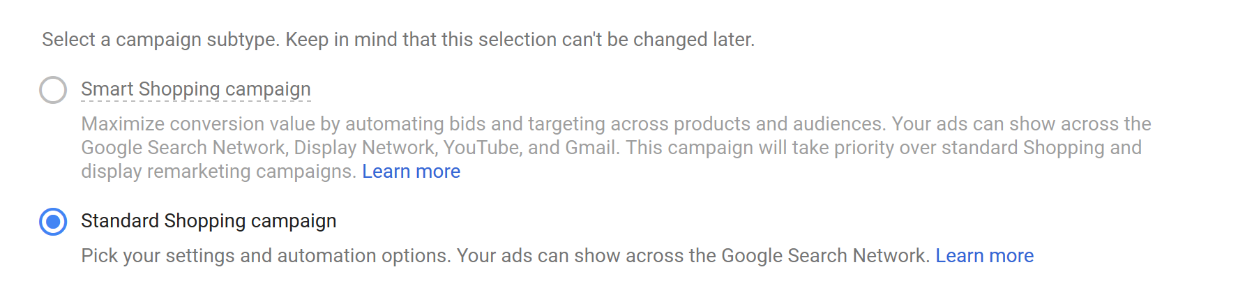 Create Google Shopping Ad Campaign Step 3