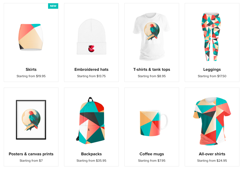 Productos-Printful