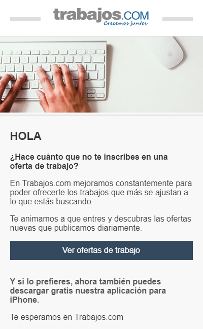 estrategia email marketing trabajos