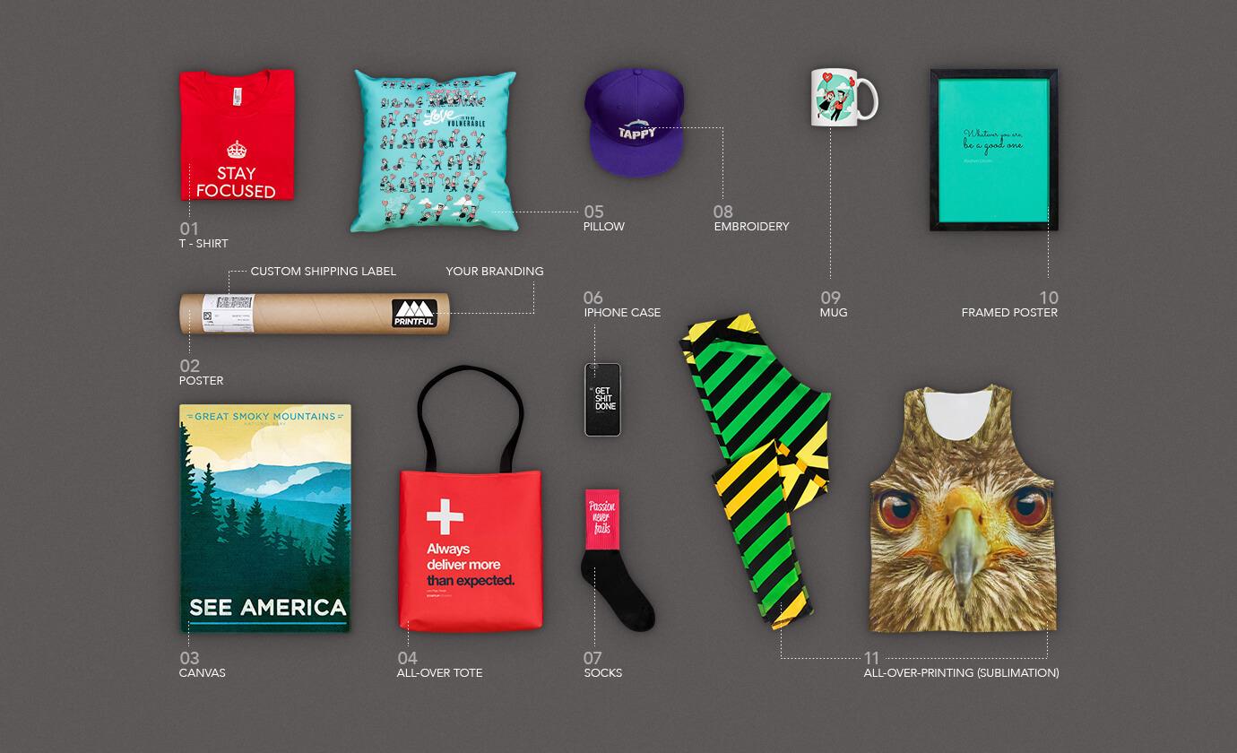 Custom print products