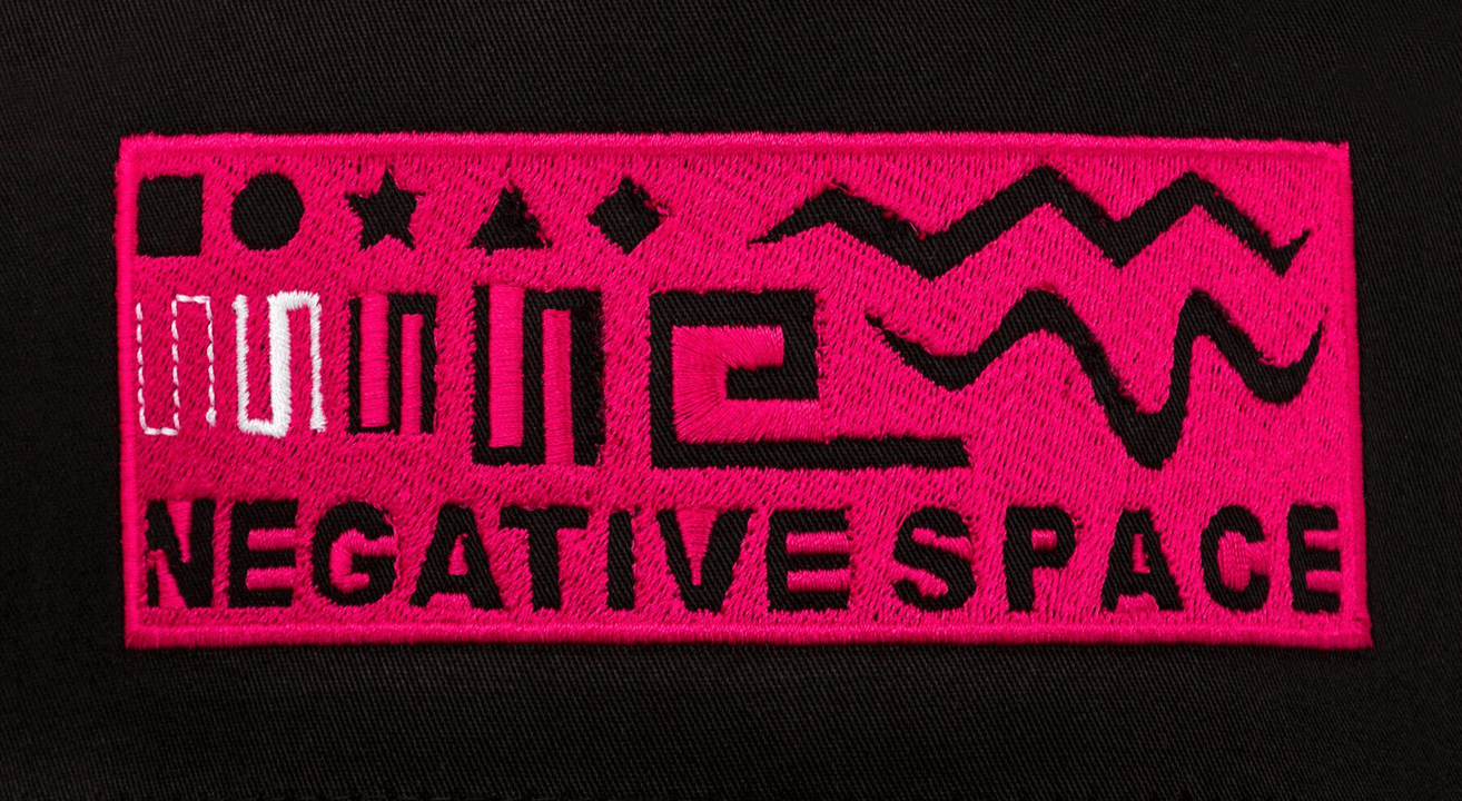 incorrect negative space embroidery