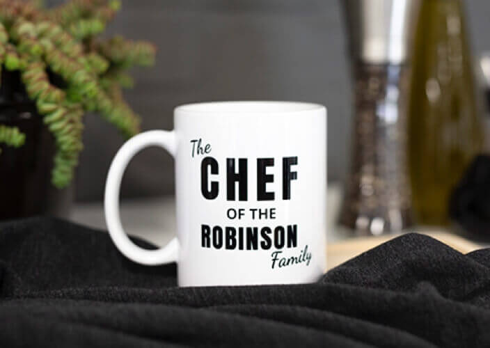 Personalized mug as a gift for him